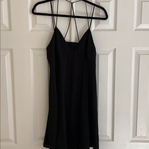 Black Open Back Express Fit and Flare